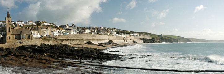 Irish village on the coast