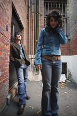 Fashionable Couple In An Alley