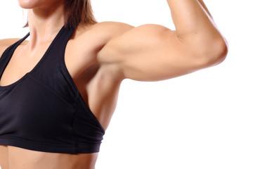 woman's biceps torso