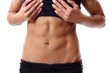 muscular abdomen