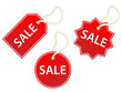 SALE Labels (Stickers Sales Tags Shopping Stamps Prices Red)