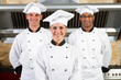 team of chefs in kitchen
