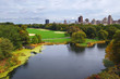 View of the lake in Central Park