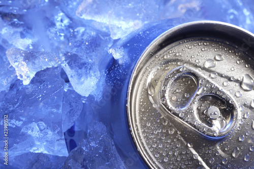 can of beer in ice - 23980512
