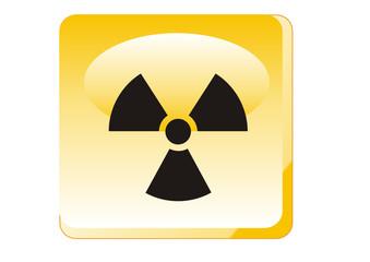 Warnung - Radioaktive Strahlung von Stoffen