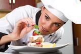 chef decorating dessert - Fine Art prints