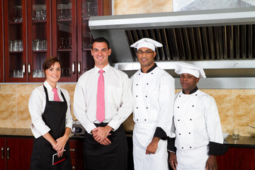 restuarant staff in kitchen