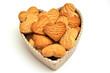 Pensiero d'amore dolce cuore di biscotti - orizzontale