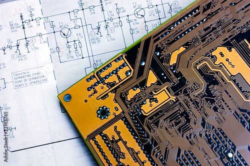 schematic diagram  and electronic board