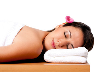 Beauty woman in spa
