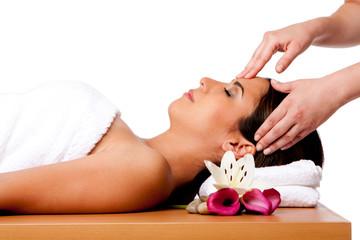 Facial massage in spa