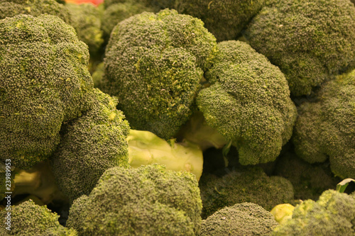 Broccolis in the market.