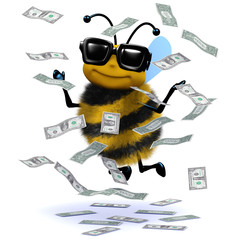 3d Bee in  the money