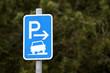 Parken auf dem Gehweg erlaubt