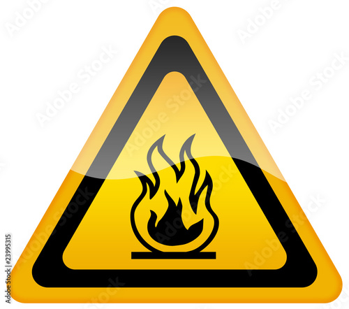 Open flame danger sign
