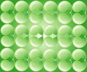 Green spirals background,  vector