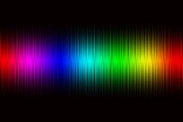 虹色のイメージとクリスマスイルミネーション