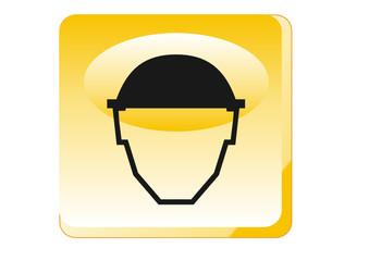 Warnung - Kopfschutz tragen