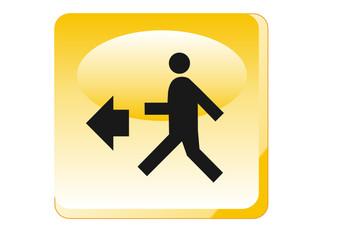 Warnung - Fluchtweg
