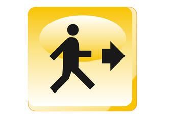 Warnung - Fluchtwege