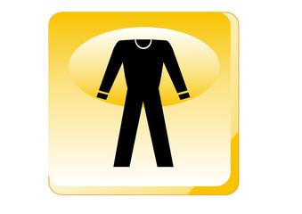 Warnung - Schutzanzug tragen