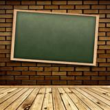 Blackboard in interior