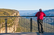 Man looking out over the Blue Mountains National Park