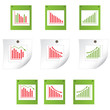 Set of business statistics. vector  illustration