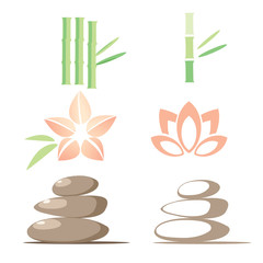 Spa icons, vector illustration