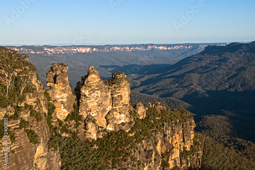 The Three Sisters of the Blue Mountains National Park.