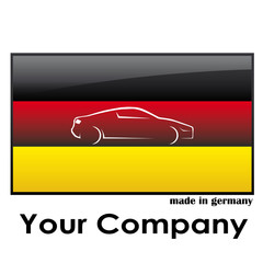 Germany-Flag Car Logo