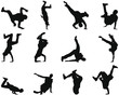 break-dancer silhouettes