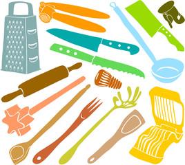 Set of a kitchen accessories