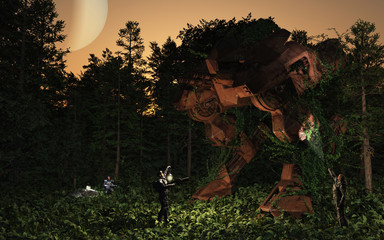 Lost and found - battle droid in the forest