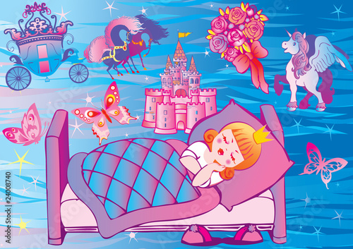 Papiers peints Chateau Dream Princess. Fairy-tale.