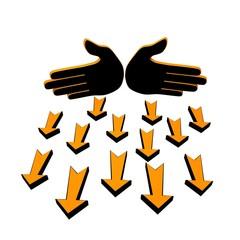 Hands arrows