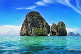 Exotic landscape in Thailand, Railay beach in Krabi.