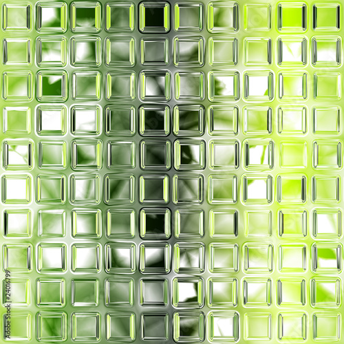 Fototapeta Seamless green glass tiles texture background, kitchen or bathro