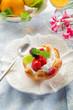 fruits pastry - dessert alla frutta con panna