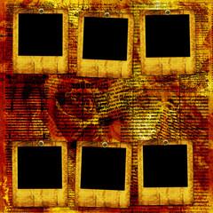 Old grunge paper slides on the ancient background