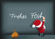weihnachtsmann schreibt an die wand