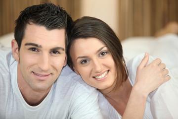 Portrait d'un couple amoureux