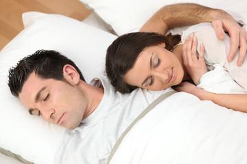 Portrait d'un couple endormi