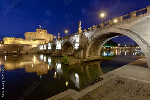 Older Bridge and Castle Sant Angelo in Rome