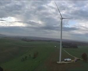 vue aérienne éoliennes