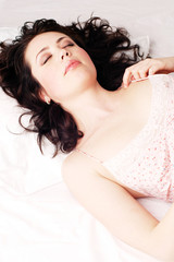 Young Sexy sensual woman is sleeping