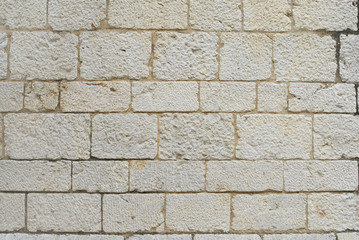 white ancient wall