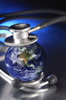 stethoscope listening planet