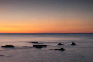 """Vineyard Sound at sunset, Massachusetts"""