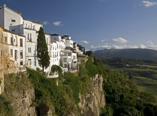 """Clifftop buildings, Ronda, Andalucia, Spain"""
